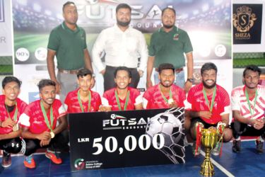 Captain of the Champion team Farood Faiz received champion award and cash prize of Rs. 50, 000 from chief guest main sponsor of the tournament Shoppinglist,lk Director M.S.A. Mohamed. President of the Group of 2007 Mohamed Rizad, Project Chairman Shiraj Salley and members of the team were also present.