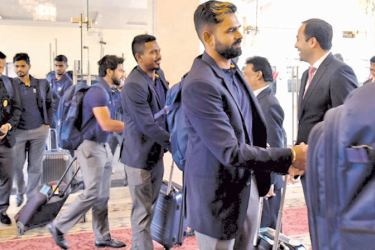 Sri Lankan cricketers arriving at the Islamabad International Airport