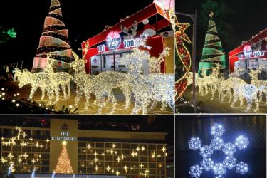 Some of the Five Stars Hotels New Year decorations. Pictures by Wimal Karunathilaka