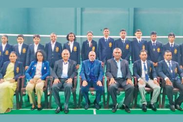 National junior badminton team with officials