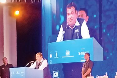 Union Minister for Road, Transport & Highways and Micro, Small and Medium Enterprises (MEME) Nitin Gadkari addresses the opening