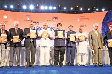 Nitin Jairam Gadkari, Minister for Road Transport & Highways and Micro, Small and Medium Enterprises, Government of India and other invitees at the EXCON opening