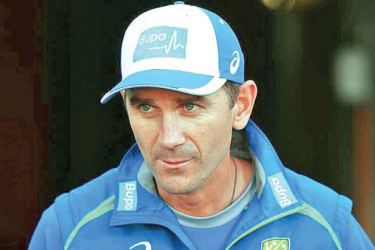 Australia head coach Justin Langer during the press conference.