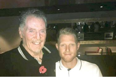Ben Stokes (right) with father Gerard Stokes.