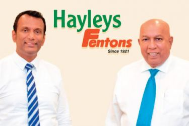 Hasith Prematillake and Chairman and Chief Executive, Mohan Pandithage