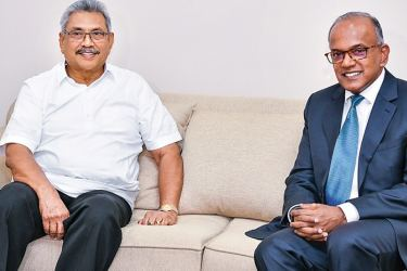 Singapore's Law and Home Affairs Minister Kasiviswanathan Shanmugam called on President  Gotabaya Rajapaksa at the Presidential Secretariat yesterday. (Picture by President's Media)