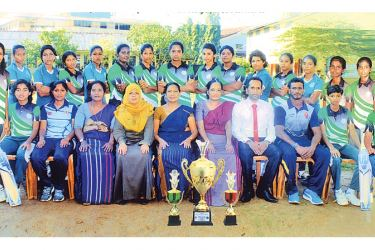 The victorious St. Anthony's Balika MV Panadura team