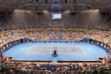 Haze could be seen in the arena for the ATP Cup tennis tournament in Sydney earlier this week. - AFP