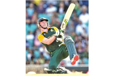 South Africa's AB de Villiers in action.