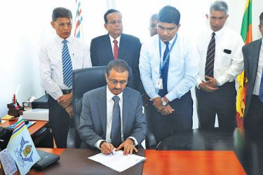 Upul Dharmadasa assumes duties as the new Chairman of AASL in the presence of senior officials
