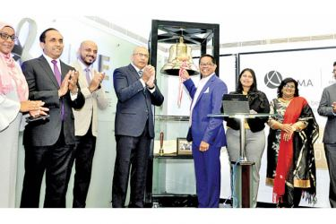 CIMA and CSE officials at the bell ringing ceremony