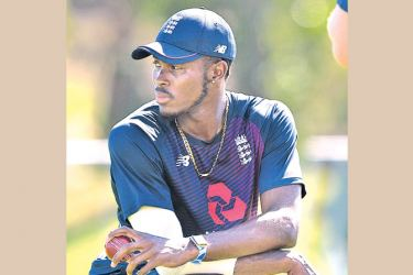 Jofra Archer looks on during England nets ahead of the third Test against South Africa