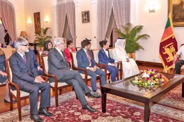 Four new ambassadors and a High Commissioner presented their credentials to President Gotabaya Rajapaksa at the President's House in Colombo yesterday (20).