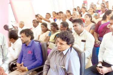 Central Province Governor Lalith U. Gamage addressing the gathering. Pictures by G.A. Gunasena, Ginigathena Special Corr.