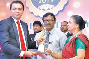 First Friends Campus (Pvt) Ltd official receives the award