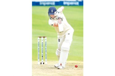 England's Zak Crawley plays a shot during the first day of the fourth cricket Test between South Africa and England at the Wanderers Stadium in Johannesburg on January 24, 2020. AFP