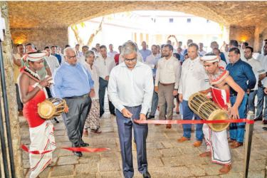 Chairman, John Keells Holdings Krishan Balendra, Deputy Chairman Gihan Cooray and President Leisure Sector Jit Gunaratne with staff and guests at the opening
