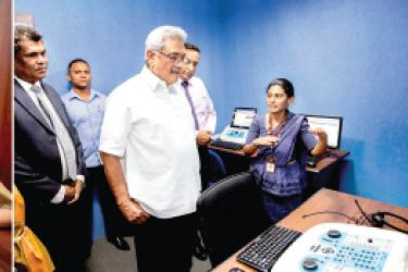 President Gotabaya Rajapaksa toured the different section of the Ayati Centre, the country's first national centre for those with special needs, after opening it and discussed many issues of the field with the staff.