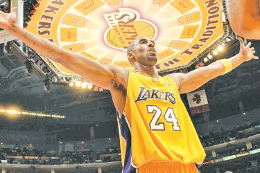 Kobe Bryant pictured in 2007 spent his entire 20-year NBA career with Los Angeles Lakers.