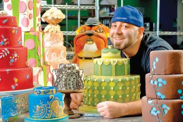 Duff Goldman with some of his cake creations