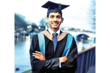 Dinith Ranaweera, a first-class degree graduate from ESOFT who is now reading for his PhD at Kingston University London