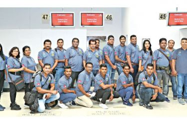 The team of chefs at the check in counters of the Bandaranaike International Airport