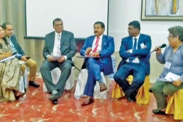 A panel discussion of parliamentarians from Sri Lanka, Bangladesh and Nepal with Ellene Sana, MFA (Philippines).