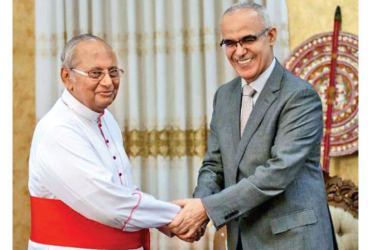 UAE Ambassador in Sri Lanka Ahmad Ali Al Mualla met Colombo Archbishop His Eminence Malcolm Cardinal Ranjith to hand over a donation for the victims of Easter Sunday attacks.