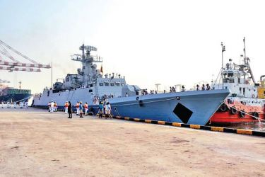 Bangladesh naval ship 'Shadhinota' at the Port of Colombo
