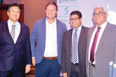Justin Tumambing, Global Technical Support and Development Manager, Mathew Murphy, Sales Manager, APAC – Fumigation Cytec-Solvay Group, Director of Suren Cooke Agencies, Rajitha Cooke anad Chairman Suren Cooke Agencies, Suren Cooke at the launch. Picture by Sudath Malaweera