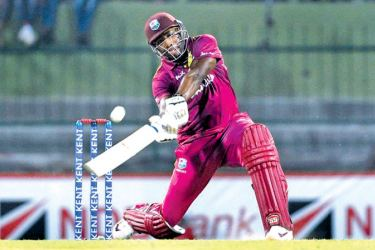 West Indian Andre Russell hit six sixes off 14 balls against Sri Lanka in the second T20I at Pallekele.