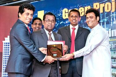 MAGA officials receives the awards from Indika Anuruddha, State Minister of Housing Facilities