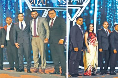 The jubilant Dialog team with the awards