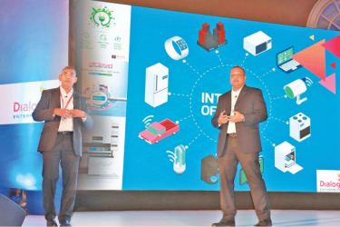 (L-R): Consultant - M2M/IoT Strategy and Partner Management of Dialog Axiata Dr. Indika Samarakoon and Vice President - Enterprise Business and Large Enterprise Sales of Dialog Axiata, Navin Pieris.