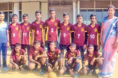 Kalutara Zonal Boys' Under 18 volleyball Champions Pothupitiya MV., Kalutara team. Picture by Kalutara Central Special Corr. H. L. Sunil Shantha