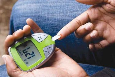The normal way of checking blood glucose