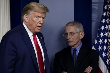 President Donald Trump with Dr. Anthony Fauci