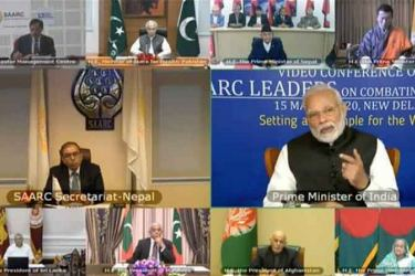 SAARC leaders video conference