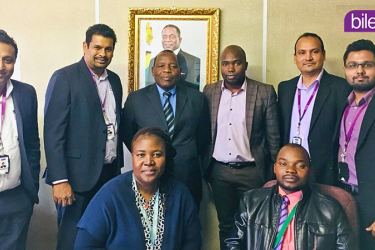 Project kick-off of the eLMIS implementation with the Ministry of Health Zimbabwe. The picture shows Sankka Weerasinghe (CTO) Sanji De Silva (CEO) and the Bileeta  team with Dr. C T Basera (Global Fund Grants Coordinator)  and his team members