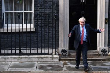 UK PM Boris Johnson is back at Number 10, Downing Street