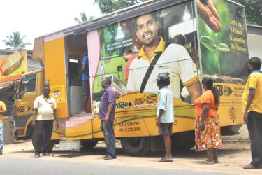 Mobile banking to the doorsteps  (Picture by Sudam Gunasinghe)