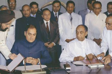 Signing of the Indo-Sri Lanka Accord – Another failed peace attempt.