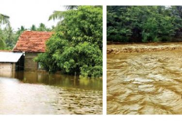 Roads and houses inundated by floods in Kalutara. Pictures by Priyadarshani Kahawala, Ingiriya Central Group Corr.