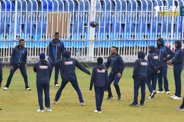 Sri Lanka cricket team during one of their training sessions.