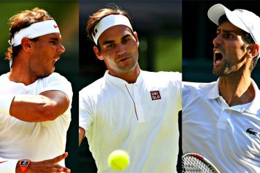 The Big Three: Nadal, Federer and Djokovic.