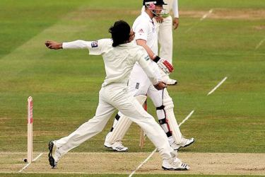 Mohammad Asif's infamous no-ball at Lord's.
