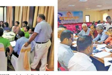 Farmers participating in a TAMAP workshop in Hambantota-Agricultural stakeholders participating in a TAMAP workshop in Kandy