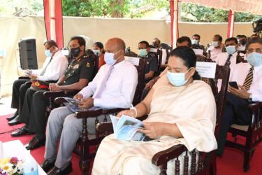 Health Minister Pavithra Wanniarachchi at the opening ceremony