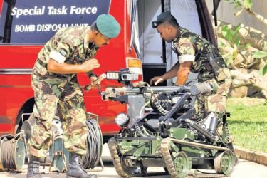 The STF's bomb disposal robot