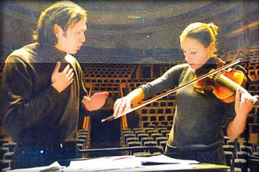 The language of music; so emotion anal Jurowski with his lead violinist.